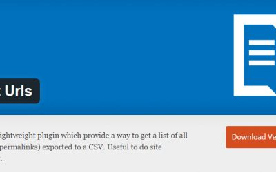 Export all permalinks (urls) of your WordPress site into a CSV